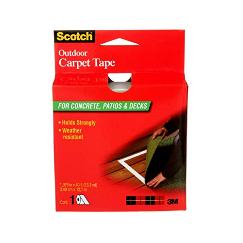 Scotch Outdoor Carpet Tape for Concrete, Patios & Decks, 1.3 in x 13 yd, 1 Roll