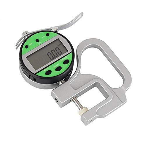 ZOYOSI 0-10mm Profundidad 30mm Medidor de Espesor Digital Electrónico Alta Precisión Adecuado para Medición de Cuero de Papel