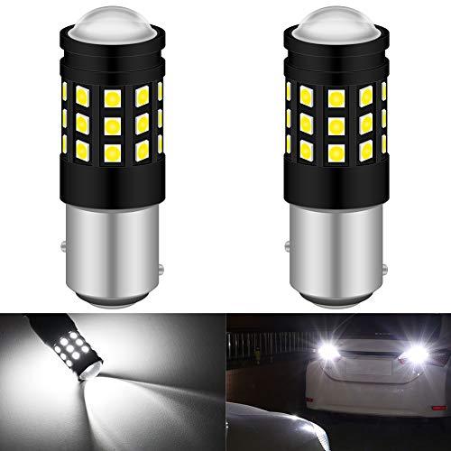KATUR 1157 BAY15D 7528 1016 Ampoule LED 3030 puces 2700 lumens à remplacer pour Feux Stop Clignotants Ampoules de Feux arrière inversés, Blanc xénon 6500K (Pack de 2)