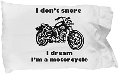 I Don t Snore I Dream I m a Motorcycle Novelty Pillow Cover Motorbike Gifts for Biker dad Men product image