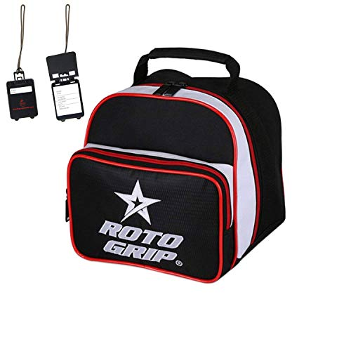 Bowling Ball Tasche Roto Grip Caddy Add-A-Bag und Adressanhänger (schwarz/rot)
