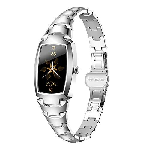 LXZ Smart Watch Women H8 Pro SmartWatch 2021 Monitoreo de Ritmo cardíaco Bluetooth Aptitud Pulsera IP67 Relojes para Mujer para Android iOS,B