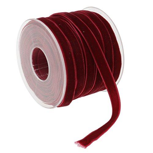 Sharplace 20 Meter Samt Dekoband Schleifenband Schmuckband Geschenkband - Farbe 6, one Size