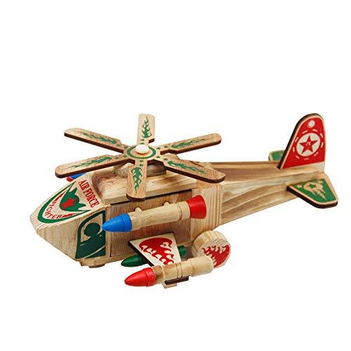 DAMAI STORE Artesanías De Madera De Color Helicóptero De Combate Modelo Aviones Militares Decoración De Escritorio Dormitorio En Casa Sala De Estar Decoración