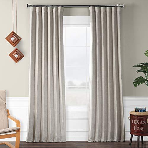 HPD Half Price Drapes BOCH-LN1858-96 Faux Linen Blackout Room Darkening Curtain (1 Panel), 50 X 96, Clay