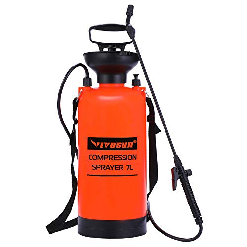 VIVOSUN 1.85 Gallon Lawn and Garden Pump Pressure Sprayer with Pressure Relief Valve, Adjustable...