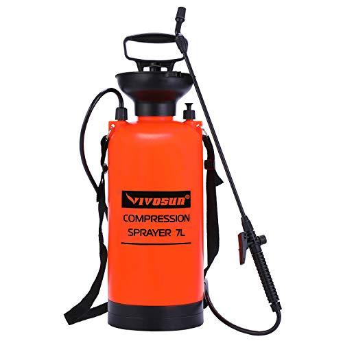 VIVOSUN 1.85 Gallon Lawn and Garden Pump Pressure Sprayer with Pressure Relief Valve, Adjustable...