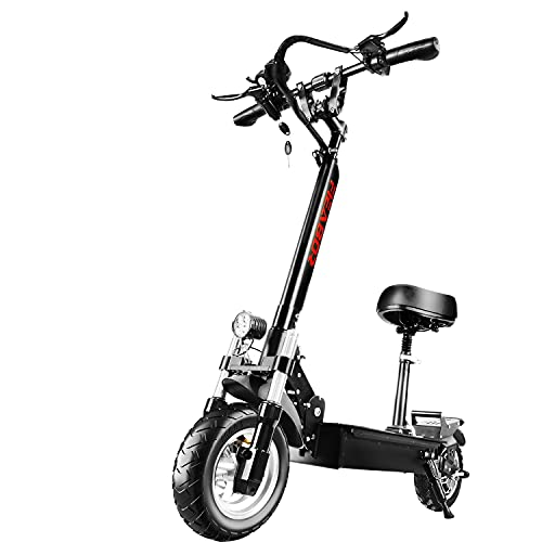 US Warehouse Electric Scooter for Adult Q08, Powerful Motor 10'' Tubeless Tires Up to Max Speed 50KM/H, Foldable Kick Scooter and Long Range Battery Two Wheels E Scooters