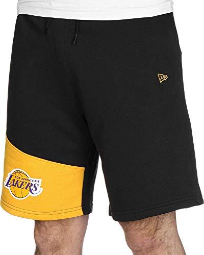A NEW ERA NBA Colour Block Short Loslak Blkcan – Pantaloni Corti da Uomo, Uomo, Pantalone Corto, 11935261, Nero, S
