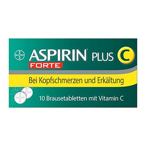 Aspirin® PlusCForteBrausetabletten, beistärkeren*Kopfschmerzen und Erkältungsschmerzenwie Hals-undGliederschmerzen,sowie Fieber10Stück