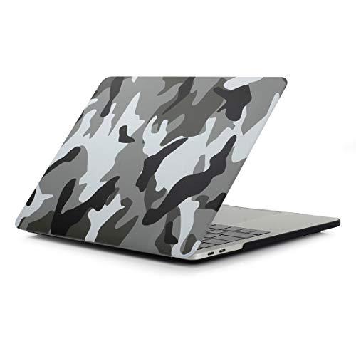 Yangeryang. -Schutzhülle Grau Camouflage-Muster Laptop Abziehbilder PC Schutzhülle Shell for MacBook Pro 15,4 Zoll A1990 (2018)