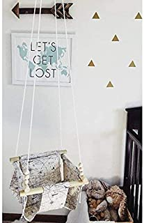 Indoor/Outdoor Map Fabric Baby Swing