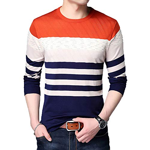 Derrick Aled(k) zhuke Sweater Men Casual Pullover Shirt Herbst Winter Slim Fit...