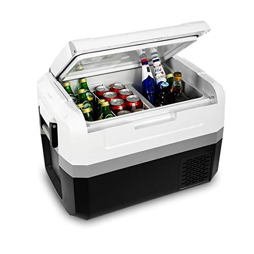 Fullwatt ZXY45, elektrische Kompressor-Kühlbox,45 L,12/24/230 V,Mini-Kühlschrank für Auto, Lkw, Boot, Reisemobil und Steckdose mit USB-Schnittstelle, Bluetooth-Steuerung