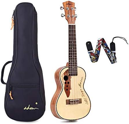 ADM 23 Inch Concert Ukulele Stain Finish Muti pole Aqulia String with Quality Bag product image