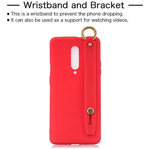 OnePlus 7 Pro Cases TPU macio pulseira choque suporte capa para OnePlus 7 Pro, vermelho