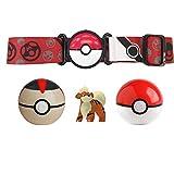 BANDAI Pokémon-Cinturón Poké Chrono Ball y Figura 5 cm Caninos-Accesorio para disfraz-WT98006, WT98006