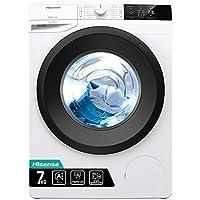 hisense wfge7012/s lavatrice freestanding a carica frontale slim, capacità 7 kg, classe energetica a+++, 1200 giri. dimensioni (l x p x a) 60 x 46,5 x 85 cm