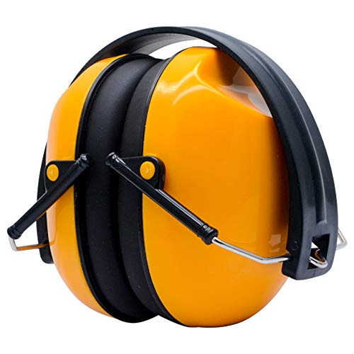 Ear Defenders, 30dB Reducción de Ruido Orejeras con Copas de Espuma Suave, Defensor de Oído Plegable para Protección Auditiva, Disparos, Construcción, Patio Trabajos Artificiales