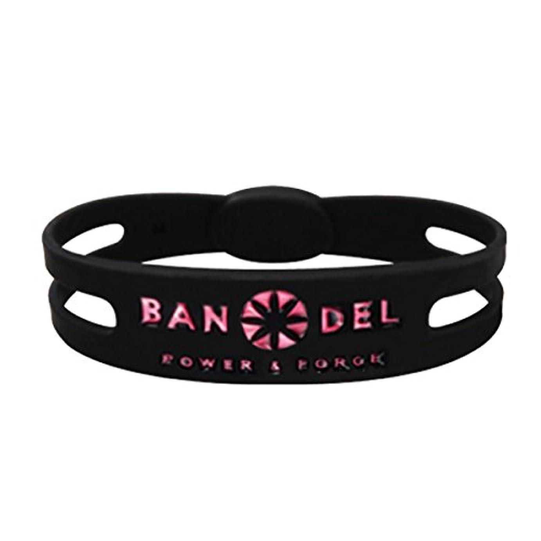 ステップシーサイド匿名バンデル(BANDEL)ブレスレット[ブラック×ピンク]LLサイズ(20.5cm)/正規品 シリコン製 アクセサリー スポーツ ゴルフ