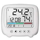 YIN YIN, higrómetro de la Temperatura, de múltiples Funciones de Alta precisión electrónica Oficina en casa termómetro higrómetro seco con la función Luminosa, 116x102x25mm (Size : 116x102x25mm)