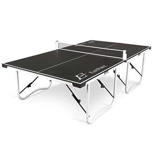 EastPoint Sports Easy Setup Table Tennis Table - 15mm - Features Durable Material, Easy Carry Handles and Wheels
