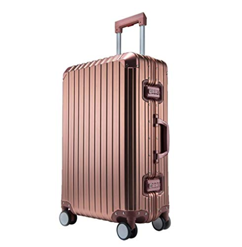 100{711be62b4f66517d0d67c440f0245a99785a13ed82fa7ae4bdfa0c814d227412} En Alliage D\'Aluminium Roulant Bagages Rotgold. Spinner Valises Roue Hommes Affaires Continuer Chariot Sac De Voyage S(50Cm - 32L)