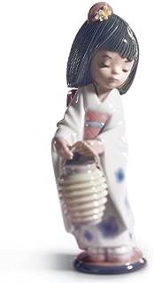 Lladro Oriental Lantern Girl Figurine