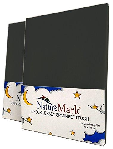 NatureMark Spannbettlaken, anthrazit/grau