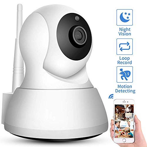 YWT Draadloze 720P Beveiligingscamera, WiFi Home Monitoring IP Camera voor Baby/Oudere/Huisdier/Babysitter Monitor, Motion Tracker, HD Night Vision