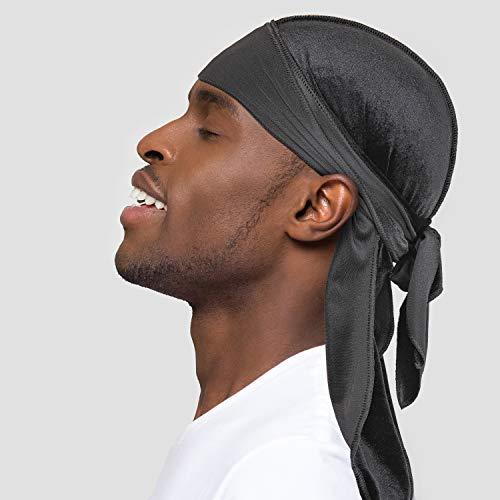 Velvet Durags for Men/Women 360 Waves Designer Do Rag Headwraps- Multiple Colors Purple