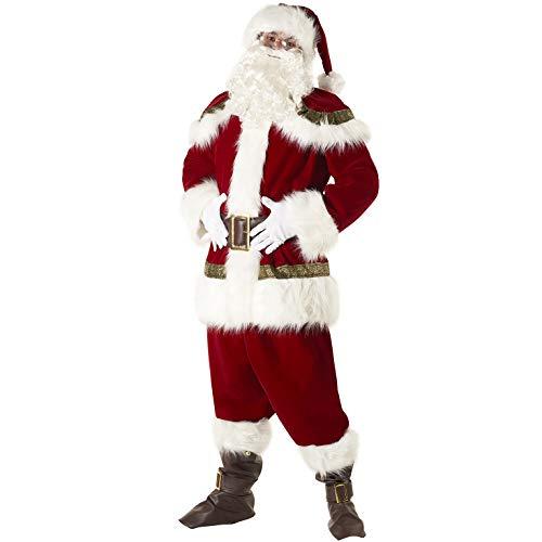 Morph Herren Super Deluxe Weihnachtsmann Kostüm Weihnachtsmann Anzug Festliches Outfit - Groß
