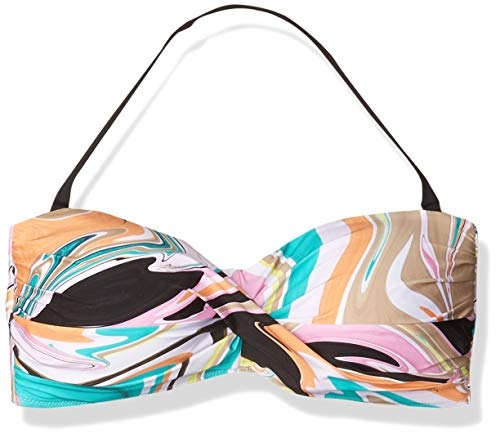 Trina Turk Women's Twist Bandeau Bra Bikini Top, Multi//Nazare, 22W