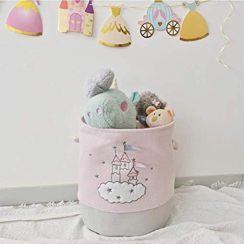 Onlyup Cesto de tela para la colada, cesta de almacenamiento de tela de lona, plegable, para cesta de la colada, cesta de juguetes, cesta de regalo, dormitorio, ropa de bebé, 35 x 40 cm (burgo)