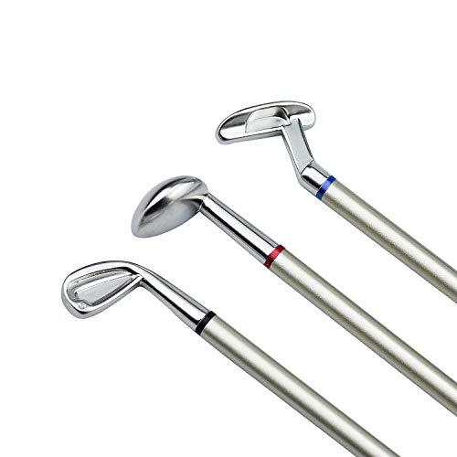 Demason Golfstifte, Golf Set,Golfschläger Kugelschreiber Mini-Golfbälle Golfgeschenkartikel Green 19,6x0,7cm - 6