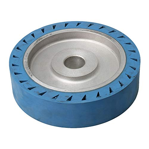 200x50x32mm Flach Fläche Aluminiumkern Gummi Kontaktrad Bandschleifmaschine