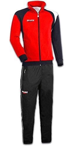 DragonSport Trainingsanzug Performance, Größe:L, Farbe:rot/schwarz/Weiss