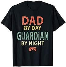 Mens Gamer Dad Shirt. Dad by Day Guardian By Night Gaming T-Shirt T-Shirt