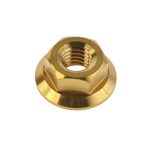 Yaruijia Titanium DIN6923 M5/M6/M8/M10/M12/M14 - Tuerca hexagonal para piezas de moto