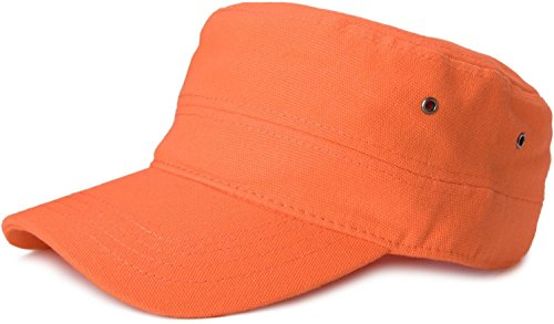 styleBREAKER styleBREAKER Cap im Military-Stil aus robustem Baumwoll Canvas, verstellbar, Unisex 04023020, Farbe:Orange