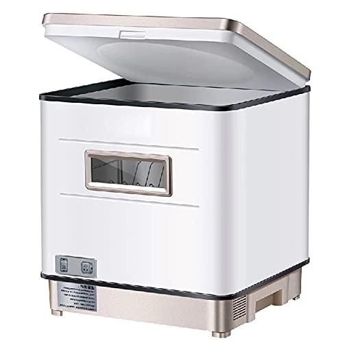 DGDD Lavavajillas automático sobremesa - Lavaplatos Compacto portátil, Mini lavaplatos Control Inteligente Secado Almacenamiento Pantalla LED UV Limpieza de 360° Cocina apartamento hogar,Oro