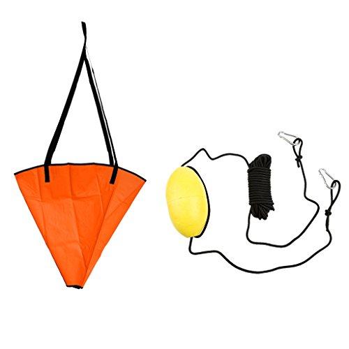 30 piedi (9,1 M) Kayak Canoa Barca Ancora Galleggiante Corda Trainata Linea Di lancio Accessorio + Dado Di Ancoraggio 18 Pollici