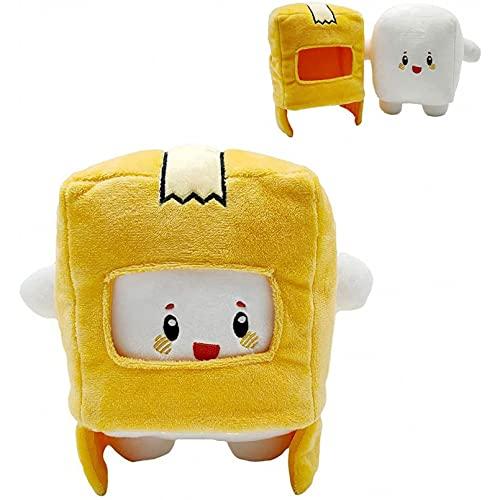 Betory 1 PCS Boxy Plush Toy 20 cm, Lankybox Extraíble Cartoon Robot Peluche, Lankybox Foxy Peluche, Regalo para niños Convertido en muñeca Niña Cumpleaños Navidad Halloween