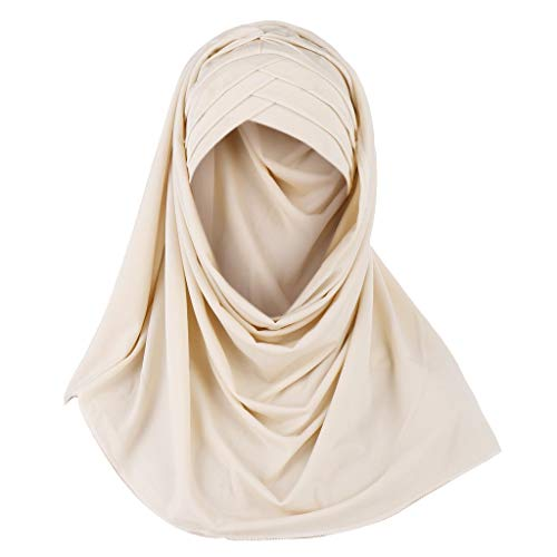 Muslimische Hat Kopftücher Damen,Schal Stola-Hijab Kopftuch für Frauen Turban Chemo kopfbedeckung-Islamische-Bandana-Abaya URIBAKY