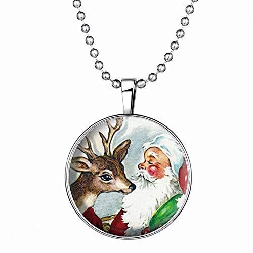 WL Halskette Schmuck Weihnachten Schneemann Halskette Nachtlicht Halskette Schlüsselbein Kette Anhänger Halskette