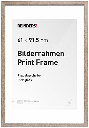 Wissellijst voor posters 61x91,5 cm | eiken | hout | romantisch - Fotolijst 66 x 96 cm