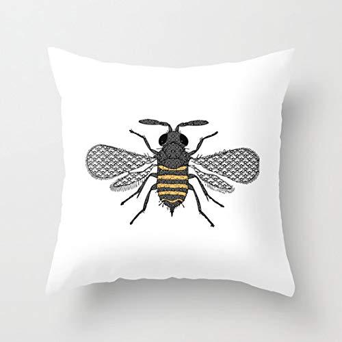 Ol322ay Bee Kussensloop Bijen Queen Bee Print Bijenkorf Honing Decoratieve Gooi Kussen Bijen Patroon Natuur Kussen dier print kussen Bijenwas Bee Home Decor