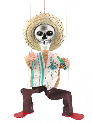 Leos Imports Mexican Puppet Marionette (Day of The Dead)