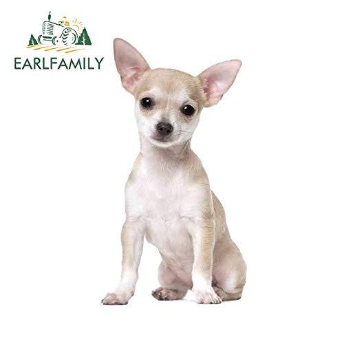 PJYGNK Sticker de Carro 13 cm x 11,5 cm Pegatinas Creativas para Coche de Chihuahua, calcomanía 3D para Perro Mascota para Van ATV, decoración Impermeable para Parabrisas Trasero