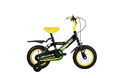 """sturdy steel frame with 12"""" puncture resistant tyres ensure this bike is at home on different terrain while your child learns to ride front and real mudgaurds keeps your child safe from loose surface debris Comes complete with stabilisers Model numbe..."""